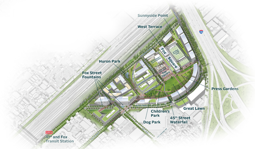 Fox Park Mixed Use Development Proposed Map
