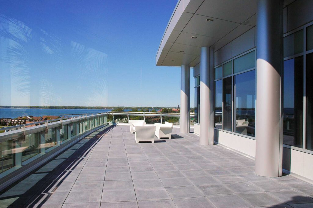 HealthNow New York Build to Suit — highrise exterior deck