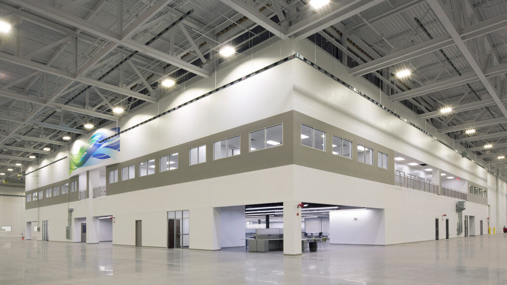 GE Aviation Build To Suit Manufacturing Facility Interior